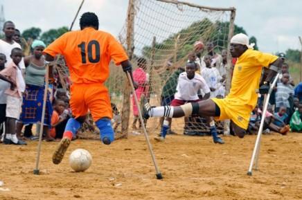 Soccer players in Ghana